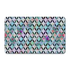 Rhomboids Flower Of Life Paint Pattern Magnet (rectangular) by Cveti