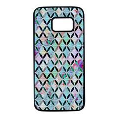 Rhomboids Flower Of Life Paint Pattern Samsung Galaxy S7 Black Seamless Case by Cveti