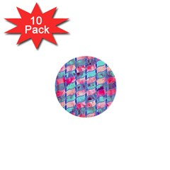Leaves Paint Flower Of Life 01 1  Mini Buttons (10 Pack)  by Cveti
