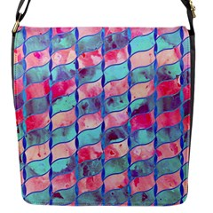 Leaves Paint Flower Of Life 01 Flap Messenger Bag (s) by Cveti