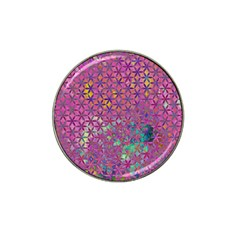 Flower Of Life Paint Purple  Hat Clip Ball Marker (10 Pack) by Cveti