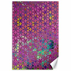 Flower Of Life Paint Purple  Canvas 20  X 30   by Cveti