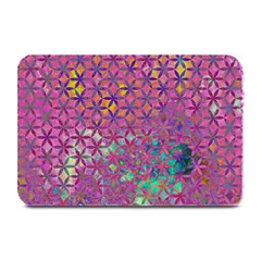 Flower Of Life Paint Purple  Plate Mats by Cveti