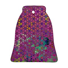 Flower Of Life Paint Purple  Bell Ornament (two Sides)