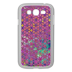 Flower Of Life Paint Purple  Samsung Galaxy Grand Duos I9082 Case (white) by Cveti
