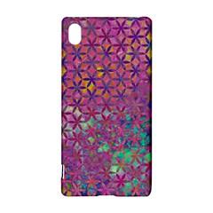 Flower Of Life Paint Purple  Sony Xperia Z3+ by Cveti