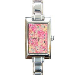 Flower Of Life Paint Pattern 08jpg Rectangle Italian Charm Watch by Cveti