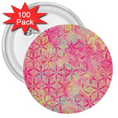 Flower Of Life Paint Pattern 08jpg 3  Buttons (100 Pack)  by Cveti