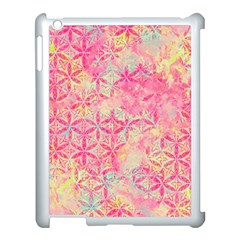 Flower Of Life Paint Pattern 08jpg Apple Ipad 3/4 Case (white) by Cveti