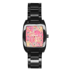Flower Of Life Paint Pattern 08jpg Stainless Steel Barrel Watch by Cveti