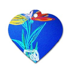 Dscf1451   Birds If Paradise In A Cristal Vase Dog Tag Heart (two Sides) by bestdesignintheworld