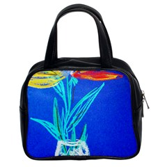 Dscf1451   Birds If Paradise In A Cristal Vase Classic Handbags (2 Sides)