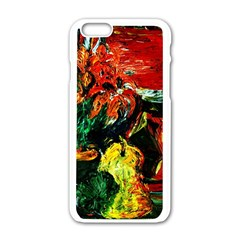 Pumpkins, Lamp And Tiger Lillies Apple Iphone 6/6s White Enamel Case by bestdesignintheworld