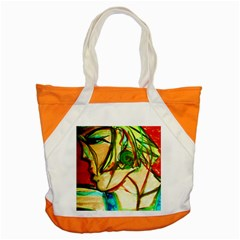 Girl In A Blue Tank Top Accent Tote Bag by bestdesignintheworld