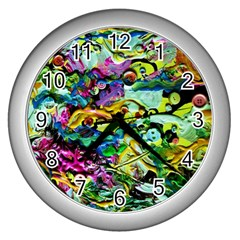 There Where Alice Took A Walk 5 Wall Clocks (silver)