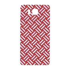 Woven2 White Marble & Red Denim Samsung Galaxy Alpha Hardshell Back Case by trendistuff