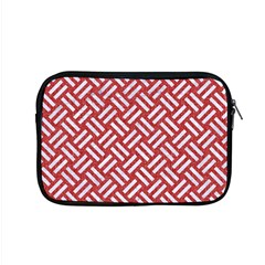 Woven2 White Marble & Red Denim Apple Macbook Pro 15  Zipper Case by trendistuff