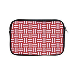 Woven1 White Marble & Red Denim Apple Macbook Pro 13  Zipper Case by trendistuff