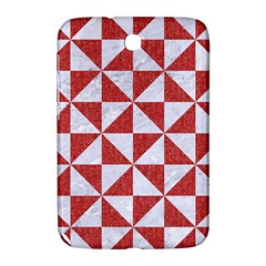Triangle1 White Marble & Red Denim Samsung Galaxy Note 8 0 N5100 Hardshell Case  by trendistuff
