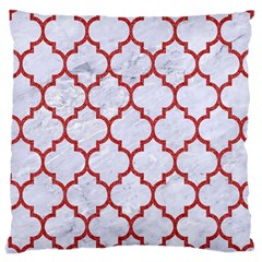 Tile1 White Marble & Red Denim (r) Large Cushion Case (two Sides) by trendistuff