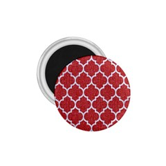 Tile1 White Marble & Red Denim 1 75  Magnets by trendistuff