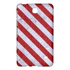 Stripes3 White Marble & Red Denim Samsung Galaxy Tab 4 (8 ) Hardshell Case  by trendistuff