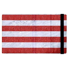Stripes2white Marble & Red Denim Apple Ipad Pro 9 7   Flip Case by trendistuff