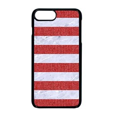 Stripes2white Marble & Red Denim Apple Iphone 8 Plus Seamless Case (black)