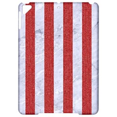 Stripes1 White Marble & Red Denim Apple Ipad Pro 9 7   Hardshell Case