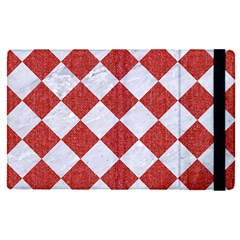 Square2 White Marble & Red Denim Apple Ipad Pro 9 7   Flip Case by trendistuff