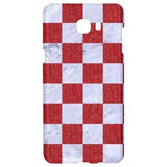 Square1 White Marble & Red Denim Samsung C9 Pro Hardshell Case