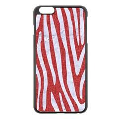 Skin4 White Marble & Red Denim (r) Apple Iphone 6 Plus/6s Plus Black Enamel Case by trendistuff