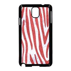 Skin4 White Marble & Red Denim Samsung Galaxy Note 3 Neo Hardshell Case (black) by trendistuff