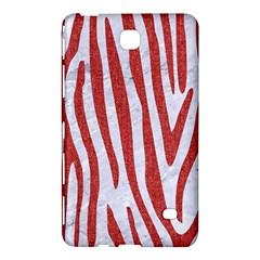 Skin4 White Marble & Red Denim Samsung Galaxy Tab 4 (7 ) Hardshell Case  by trendistuff