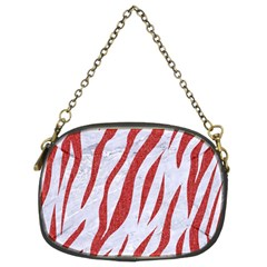 Skin3 White Marble & Red Denim (r) Chain Purses (two Sides)  by trendistuff
