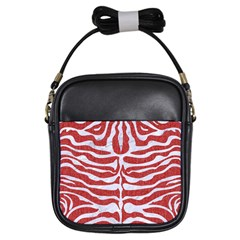 Skin2 White Marble & Red Denim Girls Sling Bags by trendistuff