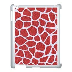 Skin1 White Marble & Red Denim (r) Apple Ipad 3/4 Case (white) by trendistuff