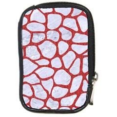 Skin1 White Marble & Red Denim Compact Camera Cases by trendistuff