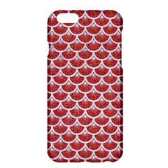 Scales3 White Marble & Red Denim Apple Iphone 6 Plus/6s Plus Hardshell Case