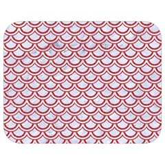 Scales2 White Marble & Red Denim (r) Full Print Lunch Bag by trendistuff