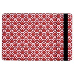 Scales2 White Marble & Red Denim Ipad Air 2 Flip by trendistuff
