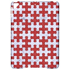 Puzzle1 White Marble & Red Denim Apple Ipad Pro 9 7   Hardshell Case