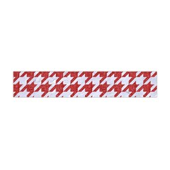 Houndstooth1 White Marble & Red Denim Flano Scarf (mini) by trendistuff