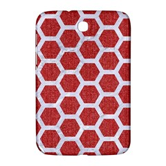 Hexagon2 White Marble & Red Denim Samsung Galaxy Note 8 0 N5100 Hardshell Case  by trendistuff