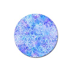 Flower Of Life Paint Pattern 8jpg Magnet 3  (round) by Cveti