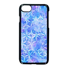 Flower Of Life Paint Pattern 8jpg Apple Iphone 8 Seamless Case (black)