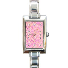 Flower Of Life Paint Pattern 9 Rectangle Italian Charm Watch by Cveti