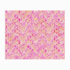 Flower Of Life Paint Pattern 9 Small Glasses Cloth (2 Side) by Cveti