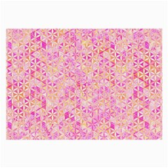 Flower Of Life Paint Pattern 9 Large Glasses Cloth (2 Side) by Cveti