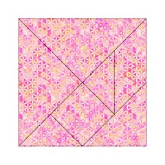 Flower Of Life Paint Pattern 9 Acrylic Tangram Puzzle (6  X 6 ) by Cveti